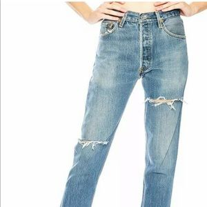 Re/done Levi's high rise ankle crop jeans nwot 28